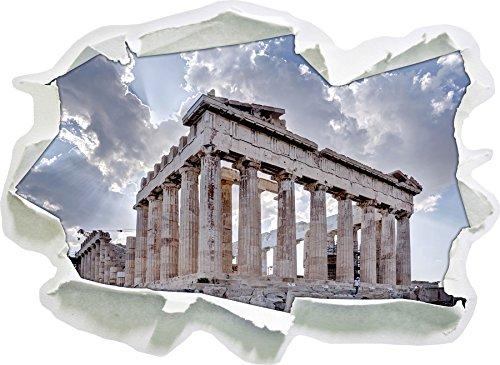 Colonne antiche in Grecia, di carta 3D autoadesivo della parete formato: 92x67 cm decorazione della (Colonne Lisce)