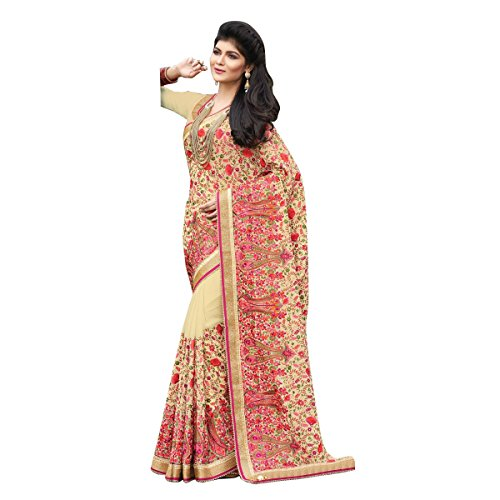 Indian kashmire bordado novia sari saree Funda trabajo étnico tradicional Sexy New