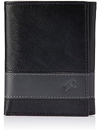 Fastrack Black and Grey Men's Wallet (C0382LBK01)