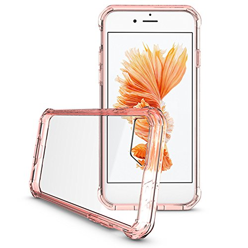 iPhone 7 Coque, Voguecase TPU + PC de Protection avec Absorption de Choc [Résistant Aux Rayures], Etui Silicone Souple Transparent, Légère / Ajustement Parfait Coque Shell Housse Cover pour Apple iPho Pink