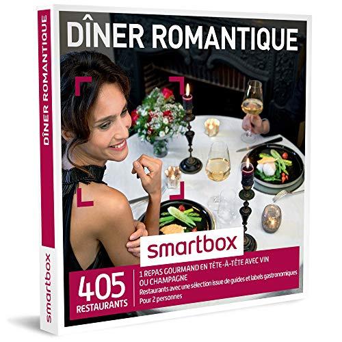 SMARTBOX - Coffret Cadeau - DINER ROMANTIQUE - 380 restaurants avec une sélection issue de guides...