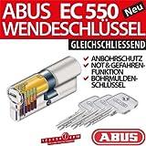 ABUS Profilzylinder Zylinder Türzylinder EC550 EC 550 gleichschliessend Lagerschliessung, Länge:40/40