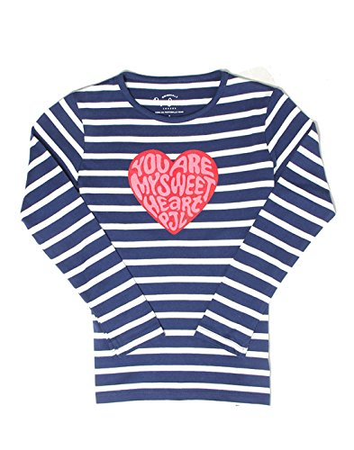 Pepe Jeans Girls' Plain Regular Fit T-Shirt (PIGK0002710 4_Navy_8)  available at amazon for Rs.399