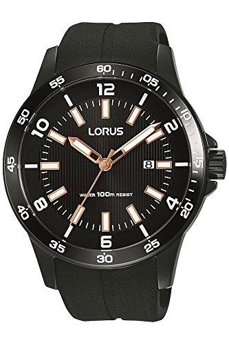 Lorus Herren Analog Quarz Uhr mit Silikon Armband RH917GX9