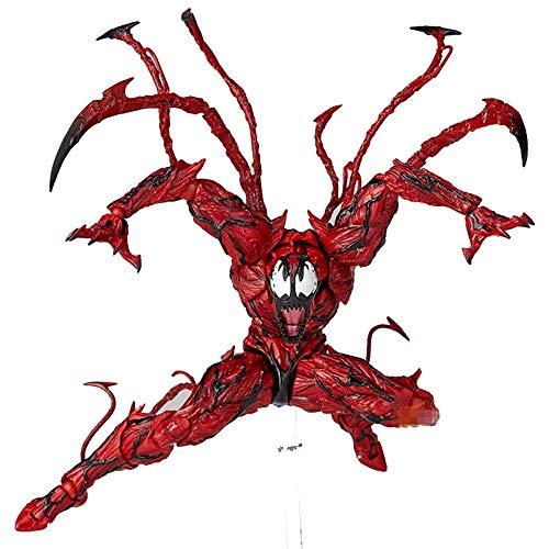 Xiao Jian- Red Cletus Kasady Venom Carnage Die Erstaunliche Spiderman Spielzeug für Reverse Hero Hot BJD Gelenke Bewegliche Action Figure Modell Spiderman 16cm hoch Spielzeugmodell