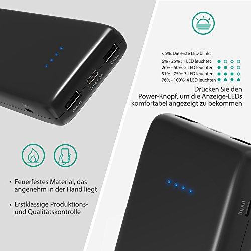 51z4y ZJvVL - [Amazon] RAVPower 22.000mAh Powerbank mit USB-C-Anschluss für 29,99 € statt 39,99€