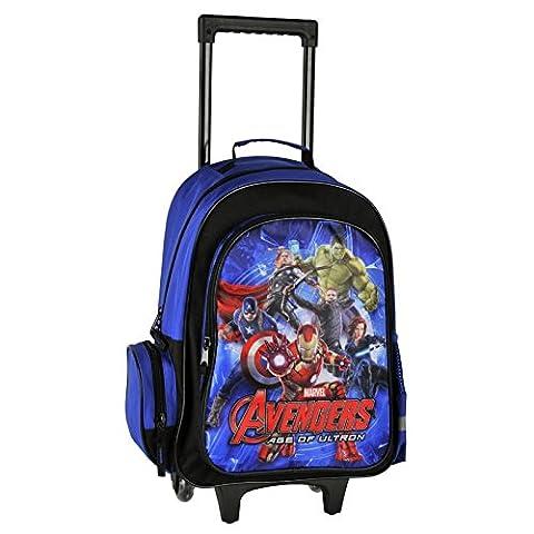 Avengers Grand Sack a Rollen Trolley Rucksack Schulranzen Schule Super Heroes Marvel - Mega Crayon
