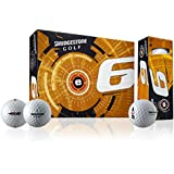 Bridgestone e6 Web Golf Ball Dimple Technology, White, M, 1B5E6