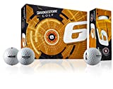 BRIDGESTONE Golfball E6 Web Dimple Technologie, White, M, 1b5e6