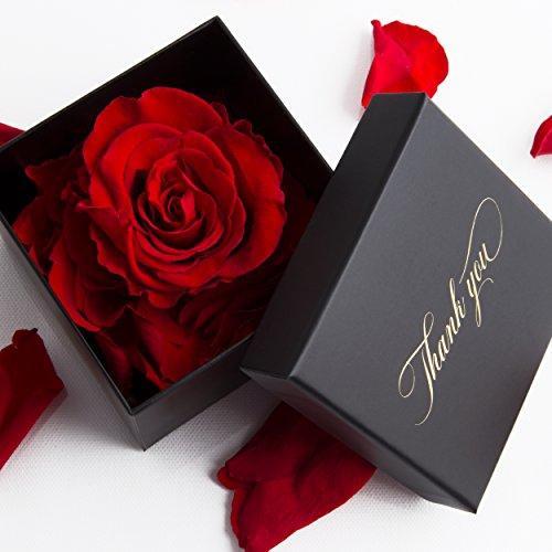 1 konservierte Rose 3 Jahre haltbar Geschenkbox Danksagung Rosengesteck von ROSEMARIE SCHULZ® (Thank you!)
