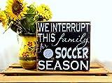 qidushop Fußball-Dekoration, Fußball-Geschenke, Fußball, Mutter, Fußball, Geschenk, Fußball, Mutter-Geschenk, handbemalte Holzschilder mit Zitaten