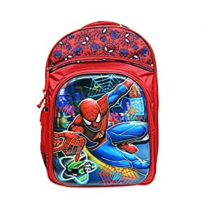 Best Shop Fabric Red And Blue 24 Ltrs Kids School Bags