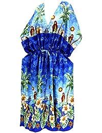 La Leela suelta Ropa de Playa caftán traje de baño traje de baño cubrir túnica caftanes las mujeres