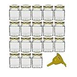 Viva-haushaltswaren–18piccoli marmellate bicchieri/spezie bicchieri 106ml con coperchio color oro