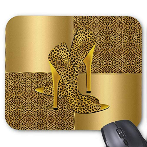 ld Leopard High Heel Shoes Animal Mouse Pad Computer Accessories Anti-Friction 18X22 ()