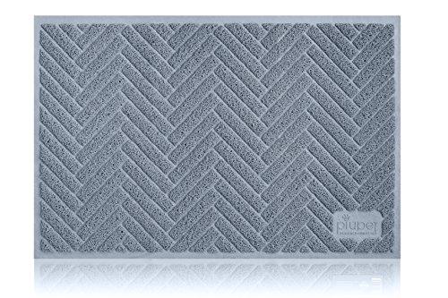 PiuPet Katzenstreu-Matte extragroß in 90cm x 60cm im Stilvollen Design | steigert Sauberkeit rund...