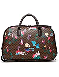 LeahWard® Ladies Butterfly Print Travel Bag Holdall Hand Luggage Women s  Weekend Handbag Wheeled Trolley Sale 1edff50bc