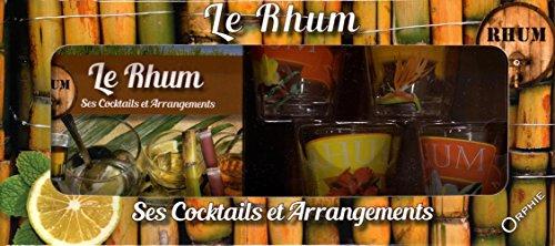 Coffret Rhum : Contient : 4 petits verres décorés