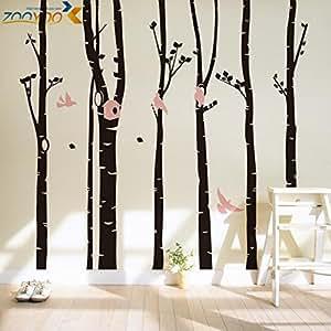 Classical Grand arbre stickers muraux décoration maison8262 zooyoo salon autocollant autocollants muraux vinly amovible chambre autocollant