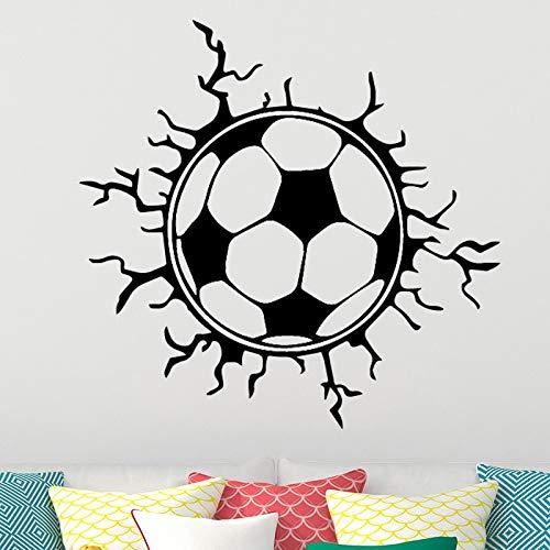 (Shentop Kreative Fußball Fußball wandaufkleber Sport Jungen Schlafzimmer Dekoration Fußball Wand Design Aufkleber Abnehmbare Vinyl Hause 58 * 56 cm)