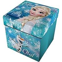 Star Licensing Disney Frozen Pouf Contenitore con Cuscino, Multicolore, 32x32x32 cm - Arredamento - Confronta prezzi