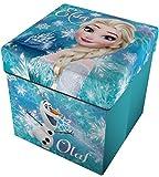 Star Licensing Disney Frozen Pouf Contenitore con Cuscino, 32x32x32 cm