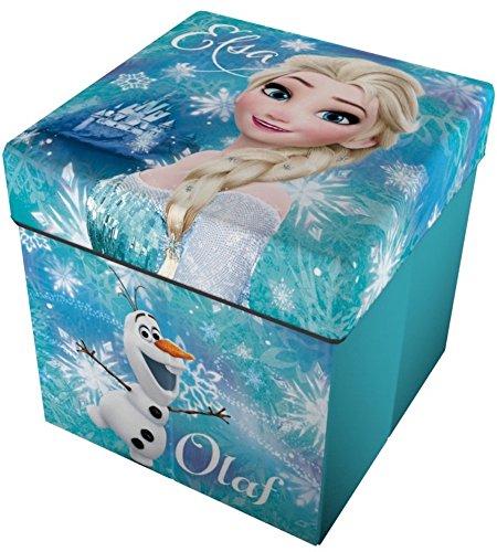 Star Licensing Disney Frozen Pouf récipient avec Coussin, Polyester, Multicolore, 32 x 32 x 32 cm