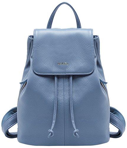 BOYATU Echtes Leder Rucksack für Frauen Messenger Travel Schultertasche Dame
