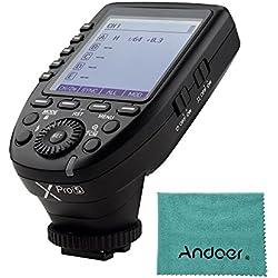 Godox Xpro-S TTL Flash Trigger Support TTL Autoflash 1 / 8000s HSS Large LCD 5 Boutons de groupe 11 pour Sony a7 II a77 a99 ILCE-6000L a9 A7R A7RII a350 DSC-RX10