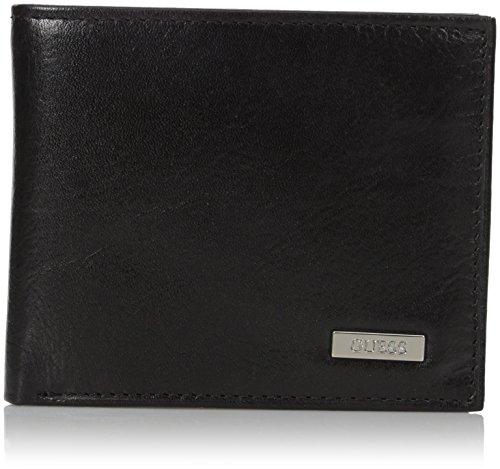 Guess Herren Leder Passcase Wallet - Schwarz - Einheitsgröße - Schwarz Leder Wallet Passcase