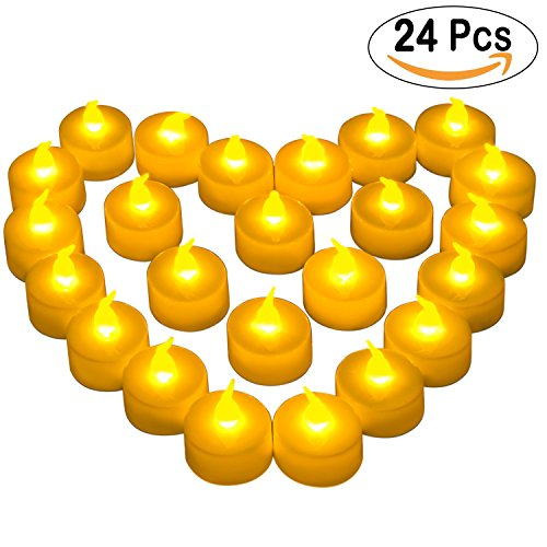 Cookey Flameless LED Tea Lights Velas, 24 Pcs Pequeñas velas parpadea