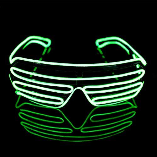 Y-XM LED Erleuchten Brille Mode Dekoration Brille Leuchten Im Dunkeln, Weihnachten Aktivität Party Lieferungen,Green