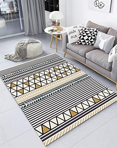 Insun Teppich Skandinavischer Stil Teppich Moderner Geometrische Formen Teppich Anti Rutsch Abwaschbarer Stil 24 140x200cm -