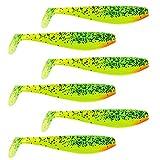 Fox Rage Zander Pro Shad 7.5cm Gummifische, Zanderköder, Gummiköder für Hecht und Barsch, Raubfischköder, 6 Stück, Farbe:Lemontiger