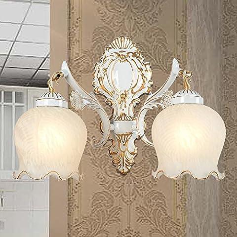 FEI&S specchio da parete lampada frontale lampada al posto letto camera da letto specchio-lampada minimalista in stile salotto lampada da parete #7B