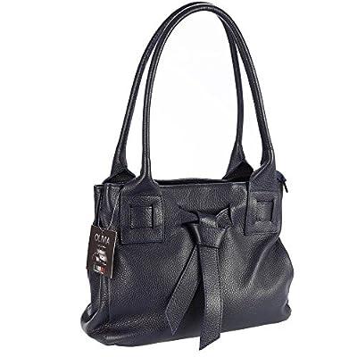 Olivia - NAPLES - Sac en cuir veritable, sac à main avec nœud papillon