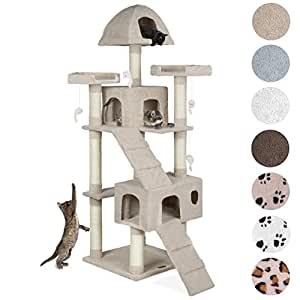 happypet kratzbaum f r katzen 181 cm hoch dicke s ulen mit sisal ca 8 0 cm h hle spielmaus. Black Bedroom Furniture Sets. Home Design Ideas