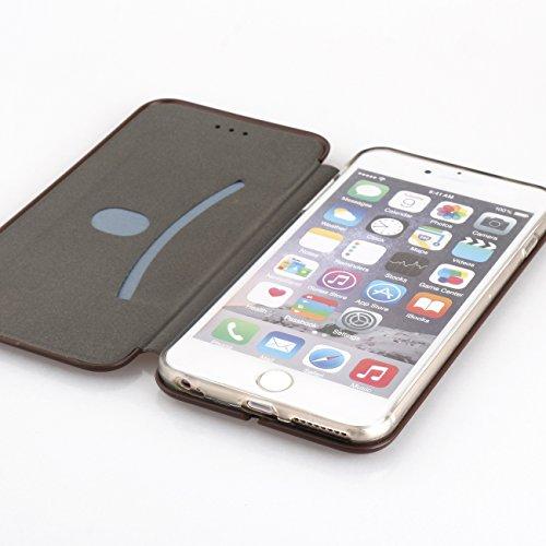 AddGuan iPhone X Case,Clamshell Protezione completa Alta qualità PU+TPU Case Con Funzione di Staffa Adatto Per iPhone X Case (Camouflage Blu) Rose Oro