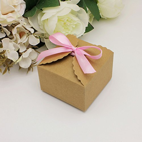 Geschenk-Box, 50Stück Dekorative behandelt, Kuchen, Kekse, Süßigkeiten und in der guten handgefertigte Seifen von Baby-Shower Geschenk-Boxen für Weihnachten, Geburtstage, Urlaub, Hochzeiten rose