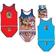 Pack de 3 conjuntos niño (camisetas y slips) 3 diferentes modelos diseño PATRULLA CANINA