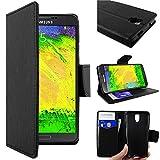 ebestStar - Compatible Coque Samsung Galaxy Note 3 Lite SM-N7505 Etui PU Cuir Housse Portefeuille Porte-Cartes Support Stand, Noir [Appareil: 148.4 x 77.4 x 8.6mm 5.5'']