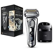Braun Series 9 9290CC - Pack con afeitadora eléctrica de lámina para hombre, recortadora de precisión extraíble, estación de limpieza Clean&Charge y funda de viaje