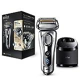 Braun Series 9 9290 cc - Afeitadora eléctrica para hombre de lámina, en húmedo y seco, máquina de afeitar barba con estación de limpieza Clean&Charge, plata