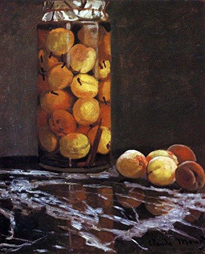 Das Museum Outlet-Die Pfirsich Glas von Monet-Leinwanddruck Online kaufen (101,6x 127cm)
