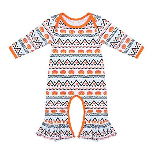 (Tiaobug Unisex Baby Body Langarm Overall Strampler Spielanzug Mädchen Jungen Jumpsuit mit Rüschen Hose Pants Halloween Weinachten Karneval Kostüm Kleidung Bunt 50-56/0-3 Monate)