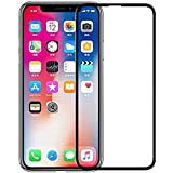 TANRISH IPhone X/iPhone 10 Edge To Edge 5d High Quality Tempered Glass Screen Guard (Black)