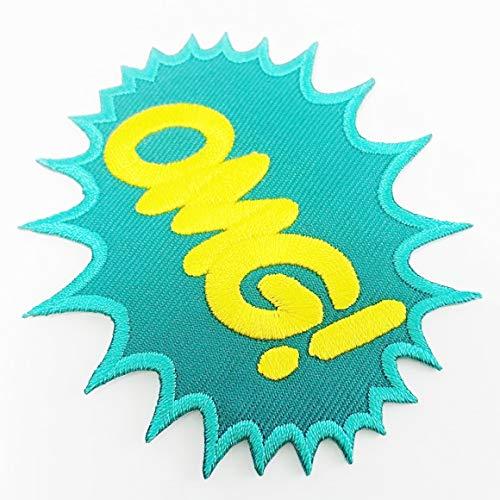 Heavens Tvcz Aufnäher, bestickt, OMG Fun Jeans Comics Retro Sew Patches Applikation Heavy Metal Biker DC Marvel Shirt New OMG zum Verzieren Ihrer Jeans, Hüte, Taschen, Jacken, Hemden Heavy Classic Jeans