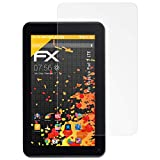atFolix Panzerfolie kompatibel mit Captiva Pad 7 LTE Schutzfolie, entspiegelnde & stoßdämpfende FX Folie (2X)