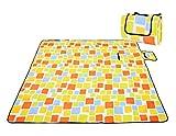 Honeystore Flanell Wasserdichte Yoga Matte Strand Ausflug Picknickdecke mit Tragegriff 200 * 150 cm Bunt Karo