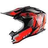 HARUONEDAY Casco Motocross Bambino, ECE Certificato Omologato, Casco Cross Rockstar, Casco Motocross Uomo, Casco Mountain Bike Uomo, ATV Scooter ATV Casco,Rosso,XXL